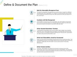 Organization Risk Probability Management Define And Document The Plan Management Ppt Team