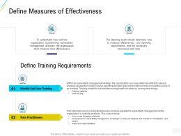 Organization Risk Probability Management Define Measures Of Effectiveness Ppt Model