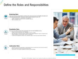 Organization Risk Probability Management Define The Roles And Responsibilities Ppt Infographics