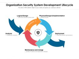 Organization Security System Development Lifecycle
