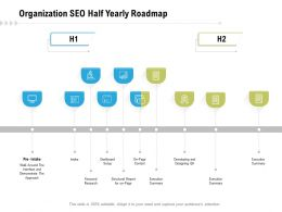 Organization SEO Half Yearly Roadmap