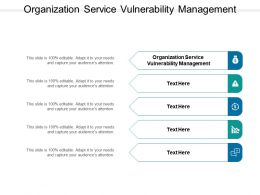 Organization Service Vulnerability Management Ppt Powerpoint Inspiration Cpb