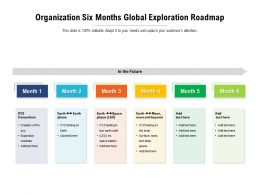 Organization Six Months Global Exploration Roadmap