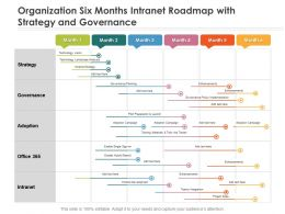 Organization Six Months Intranet Roadmap With Strategy And Governance