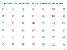 Organization Software Application Portfolio Management For Icons Slide Ppt Powerpoint Presentation Slides