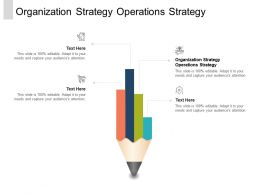 Organization Strategy Operations Strategy Ppt Powerpoint Presentation Slides Layouts Cpb