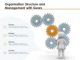 Organization Structure And Management With Gears