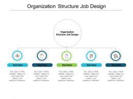 Organization Structure Job Design Ppt Powerpoint Presentation Ideas Layout Cpb