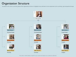 Organization Structure Manager M1799 Ppt Powerpoint Presentation Summary Template