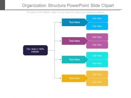 Organization Structure Powerpoint Slide Clipart
