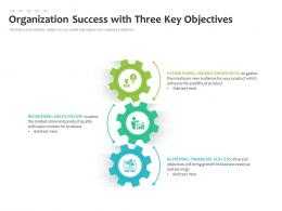 Organization Success With Three Key Objectives