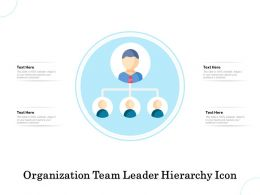 Organization Team Leader Hierarchy Icon