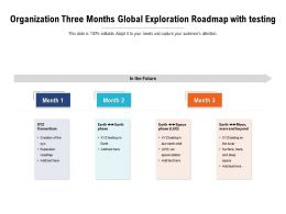 Organization Three Months Global Exploration Roadmap With Testing