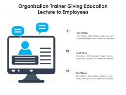 Organization Trainer Giving Education Lecture To Employees