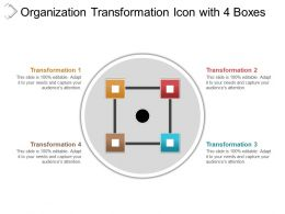 Organization Transformation Icon With 4 Boxes