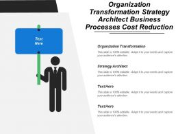 Organization Transformation Strategy Architect Business Processes Cost Reduction