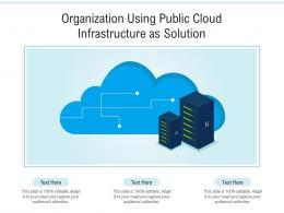 Organization Using Public Cloud Infrastructure As Solution