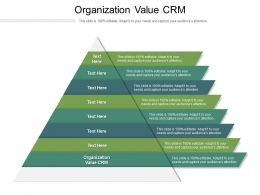 Organization Value CRM Ppt Powerpoint Presentation Pictures Designs Cpb
