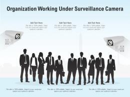 Organization Working Under Surveillance Camera