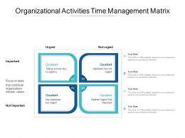 Organizational Activities Time Management Matrix