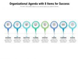 Organizational Agenda With 8 Items For Success