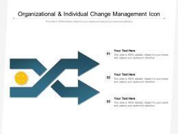 Organizational And Individual Change Management Icon