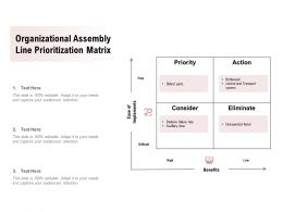 Organizational Assembly Line Prioritization Matrix