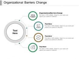 Organizational Barriers Change Ppt Powerpoint Presentation File Background Images Cpb