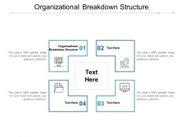 Organizational Breakdown Structure Ppt Powerpoint Presentation Model Inspiration Cpb