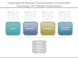 Organizational Business Communication And Information Technology Ppt Sample Presentations