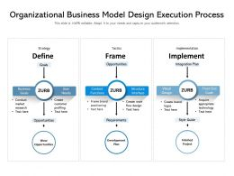 Organizational Business Model Design Execution Process