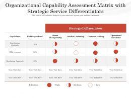 Organizational Capability Assessment Matrix With Strategic Service Differentiators