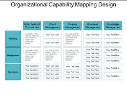 Organizational Capability Mapping Design