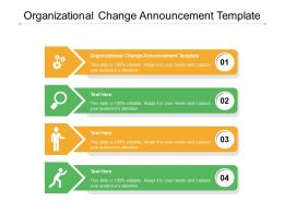 Organizational Change Announcement Template Ppt Powerpoint Presentation Model Graphics Cpb