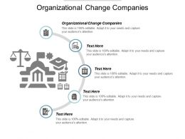 Organizational Change Companies Ppt Powerpoint Presentation Model Influencers Cpb