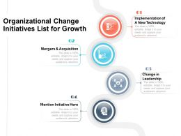 Organizational Change Initiatives List For Growth