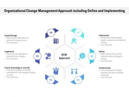 Organizational Change Management Approach Including Define And Implementing