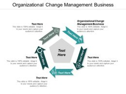 Organizational Change Management Business Ppt Powerpoint Presentation Ideas Vector Cpb