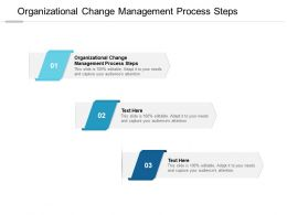 Organizational Change Management Process Steps Ppt Powerpoint Styles Cpb