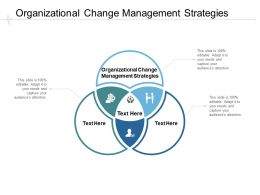 Organizational Change Management Strategies Ppt Powerpoint Presentation Model Cpb