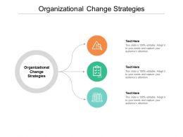 Organizational Change Strategies Ppt Powerpoint Presentation Ideas Design Templates Cpb