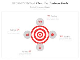 Organizational Chart For Business Goals Powerpoint Slides