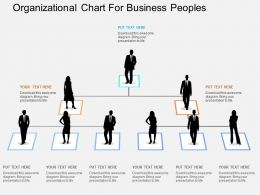 Organizational Chart For Business Peoples Flat Powerpoint Design