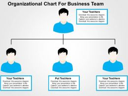 Organizational Chart For Business Team Flat Powerpoint Design