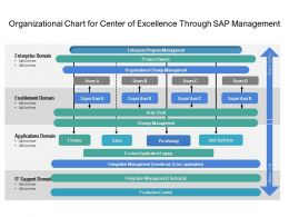 Organizational Chart For Center Of Excellence Through Sap Management