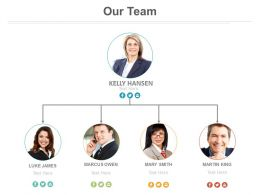 Organizational Chart For Team Management Powerpoint Slides