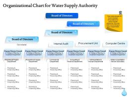 Organizational Chart For Water Supply Authority Ppt Icon Introduction
