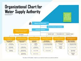Organizational Chart For Water Supply Authority Sanitation Ppt Powerpoint Presentation Icon Gridlines