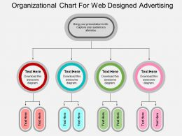 Organizational Chart For Web Design And Advertising Flat Powerpoint Design