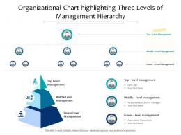 Organizational Chart Highlighting Three Levels Of Management Hierarchy